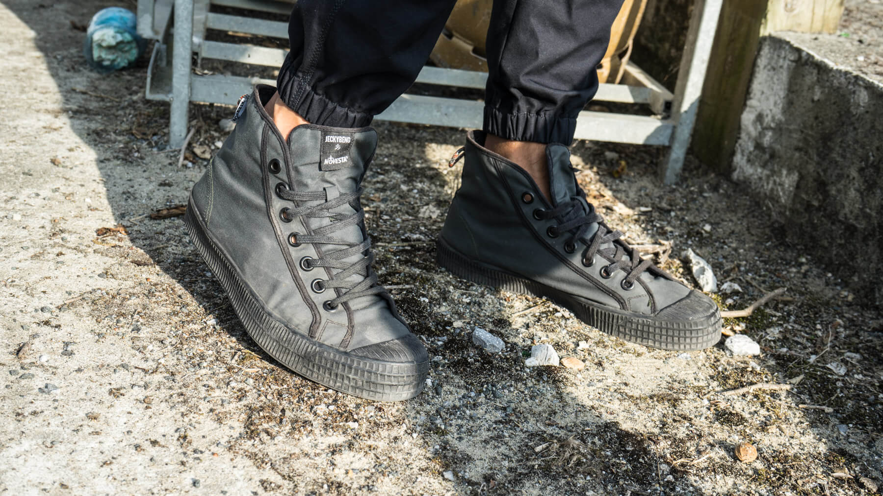 Sneakers Made from HerMin's Waterproof Cotton Fabrics